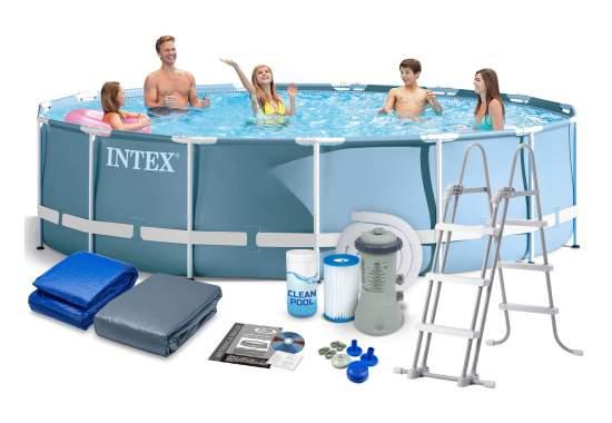 Intex 26734, каркасный бассейн 457 x 107 см Prism Frame Pool