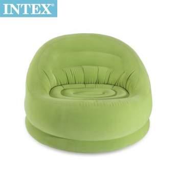 Intex 68577-green, надувне крісло, зелене 112 x 104 x 79 см