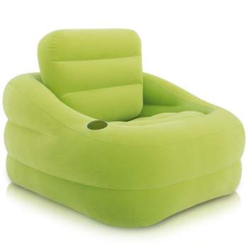 Intex 68586, надувное кресло, зеленое 97 x 107 x 71 см