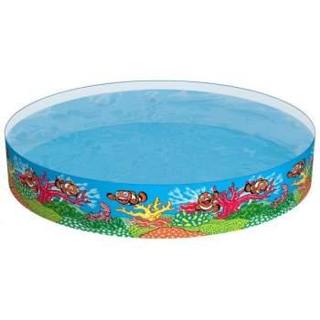 Bestway 55031, каркасний дитячий басейн рибки