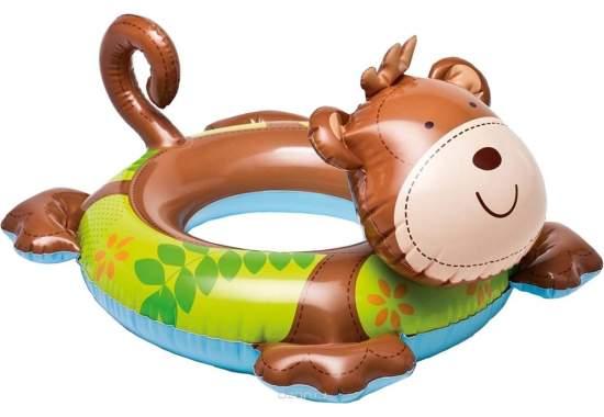 Intex 58221-monkey, надувной круг Звери. Обезьяна