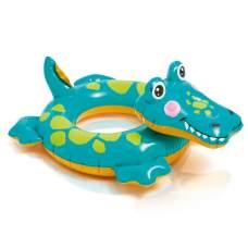 Intex 58221-crocodile, надувной круг Звери. Крокодил
