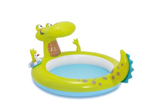 "Intex 57431, надувний дитячий басейн ""Крокодил з фонтаном"""