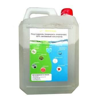 Хімтез H2O2-5-35, Пергідроль (активний кисень, перекис водню) 35%, 5л