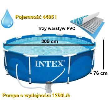 Intex 28202, каркасний басейн 305 x 76 см Metal Frame Pool
