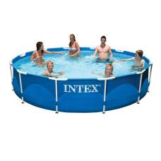 Intex 28210, каркасный бассейн 366 x 76 см Metal Frame Pool