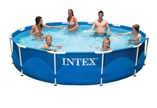Intex 28210, каркасний басейн 366 x 76 см Metal Frame Pool