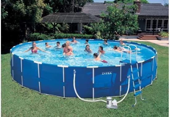 Intex 28262, каркасний басейн 732 x 132 см Metal Frame Pool