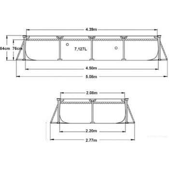 Intex 28273, каркасний басейн 450 x 220 x 84 см Rectangular Frame Pool