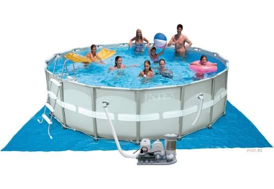 Intex 28328, каркасний басейн 488 x 122 см Ultra Frame Pool