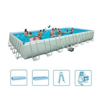 Intex 28372, каркасный бассейн 975 x 488 x 132 см Ultra Frame Pool