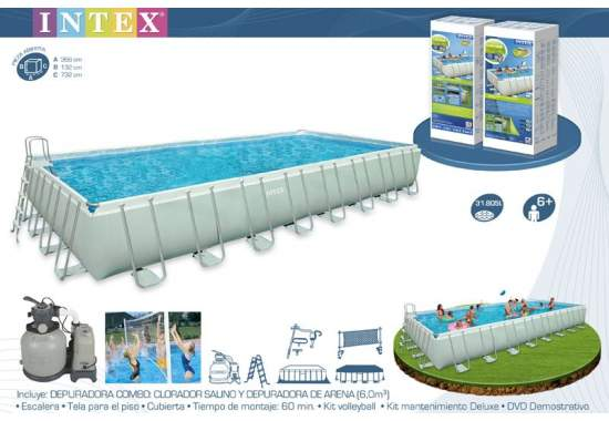Intex 28376, каркасный бассейн 975 x 488 x 132 см Ultra Frame Pool