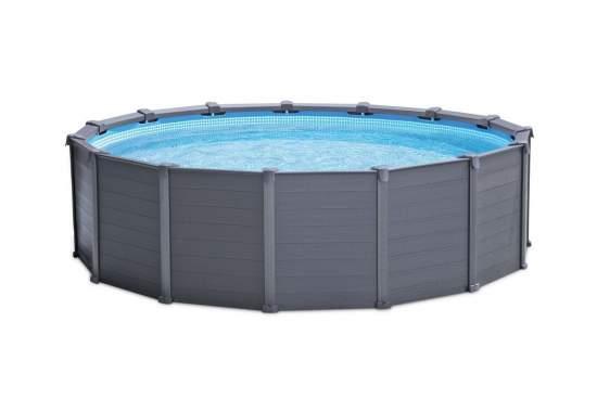 Intex 28382, каркасный бассейн 478 x 124 см Graphite Panel Pool