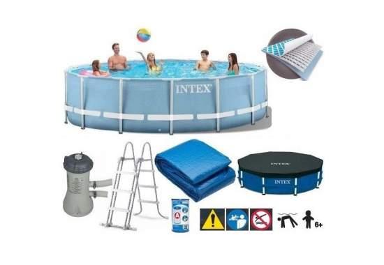 Intex 28728, каркасный бассейн 457 x 84 см Prism Frame Pool