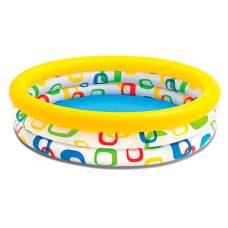 Intex 59419, надувной детский бассейн Квадратики