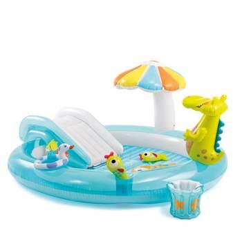 Intex 57129, дитячий надувний центр басейн Алігатор
