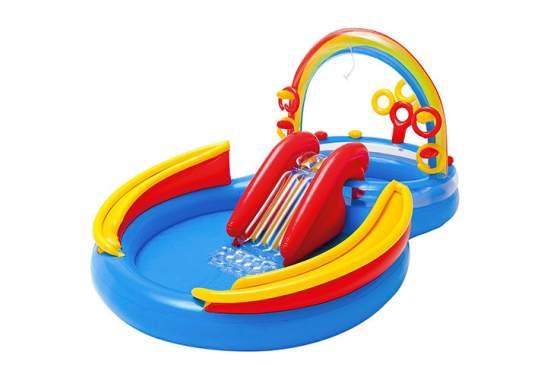 Intex 57453, детский игровой центр бассейн с горкой Радуга