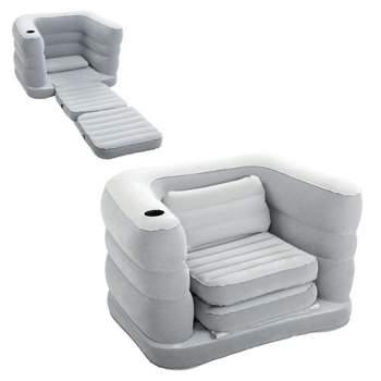 Bestway 75065, надувне крісло 200 x 102 x 64 см, сіре
