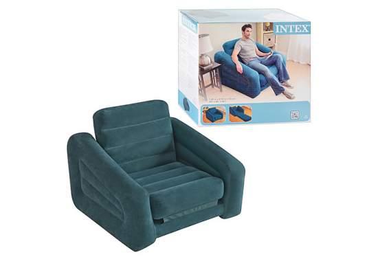 Intex 68565, надувное кресло 107 x 221 x 66 см раскладное