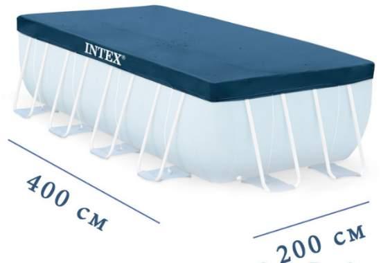 Intex 28037, тент для прямоугольного бассейна, 400x200см