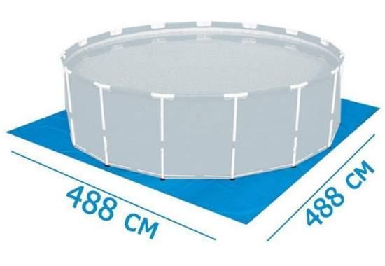 Bestway 58003, подстилка под бассейны надувные, каркасные, 70 г/м2, 488х488см
