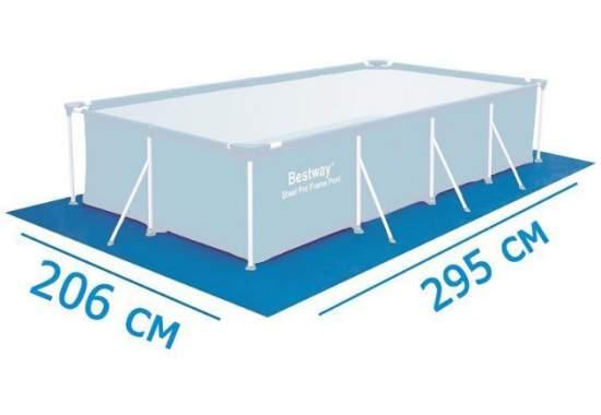 Bestway 58100, подстилка для бассейнов, 70 г/м2, 206х295см