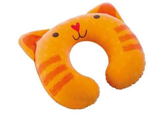 Intex 68678-O, надувна подушка-підголовник, кошеня
