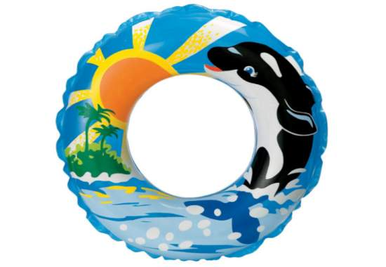 Intex 58245-D, надувний круг Дельфін