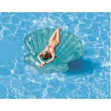 Intex 57255, надувной плотик Голубая ракушка, 191 см