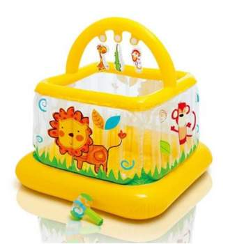 Intex 48473, дитячий надувний манеж-батут, жовтий