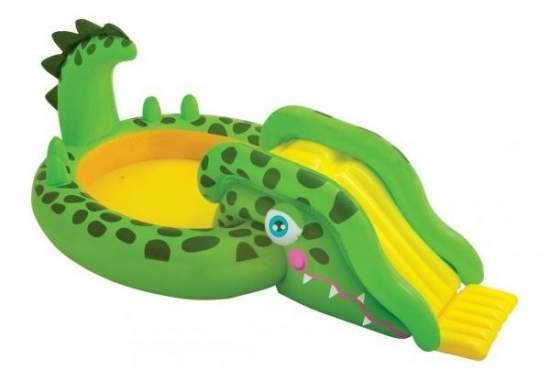 Intex 57132, детский надувной центр бассейн с горкой Крокодил