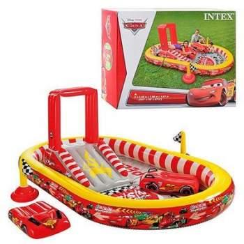 Intex 57134, дитячий надувний центр басейн з гіркою Тачки