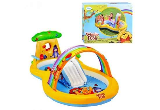 Intex 57136, дитячий ігровий центр басейн з гіркою ВінНі Пух