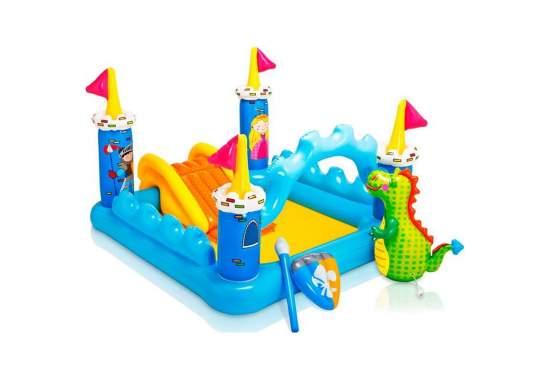 Intex 57138, дитячий ігровий центр басейн з гіркою Замок