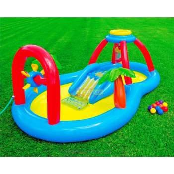 Intex 57449, дитячий ігровий центр басейн з гіркою вітряк