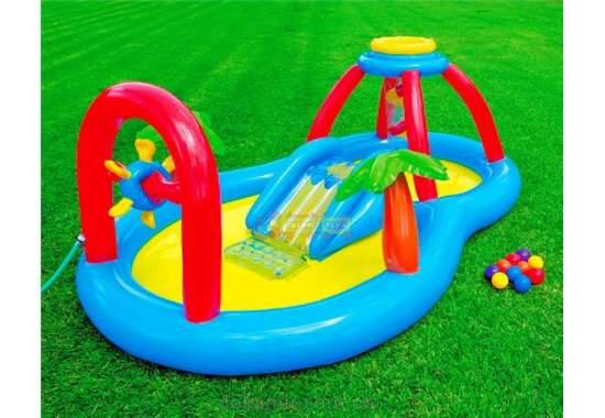 Intex 57449, детский игровой центр бассейн с горкой Ветряная мельница