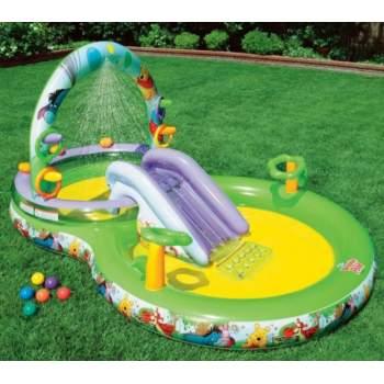 Intex 57451, дитячий ігровий центр басейн з гіркою ВінНі-Пух