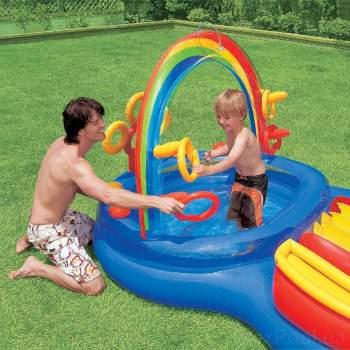 Intex 57453, дитячий ігровий центр басейн з гіркою Веселка