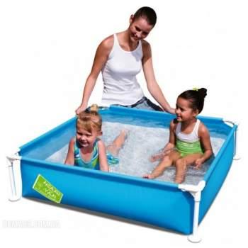 Bestway 56217-green, каркасний дитячий басейн, 122х122х30, 5см. Зелений