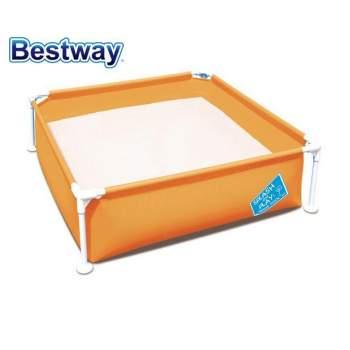 Bestway 56217-blue, каркасний дитячий басейн, 122х122х30, 5см. Блакитний