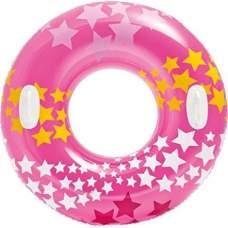 Intex 59256-pink, надувной круг Звезды, 91 см. Розовый