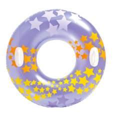 Intex 59256-violet, надувной круг Звезды, 91 см. Фиолетовый