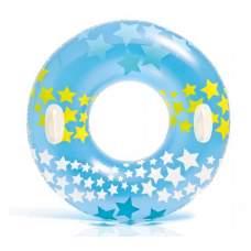 Intex 59256-blue, надувной круг Звезды, 91 см. Голубой