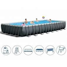 Intex 26378, каркасный бассейн 975 x 488 x 132 см Ultra Frame Pool