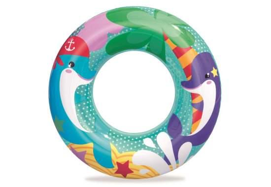 Bestway 36113-dolphin, надувной круг Морские приключения, 51 см. Дельфин