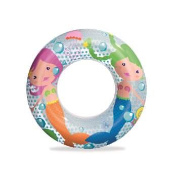 Bestway 36113-mermaid, надувной круг Морские приключения, 51 см. Русалка