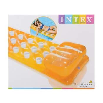 Intex 58890-orange, надувной матрас для плавания 188x71см. Оранжевый