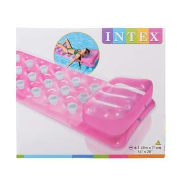 Intex 58890-pink, надувной матрас для плавания 188x71см. Розовый