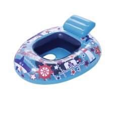 Bestway 34107-blue, надувной плотик Лодочка с трусиками. Синий