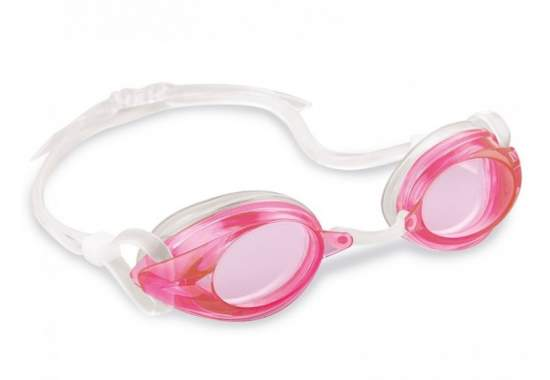 Intex 55684-pink, очки для плавания, от 8 лет. Розовые